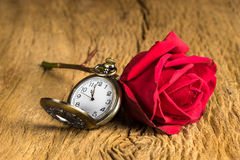 Still life pocket watch Stock Image