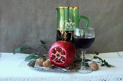 Still Life with a Pomegranate Stock Images