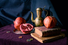 Still life with pomegranates Stock Photo