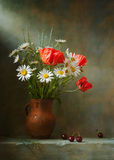 Still life with poppies royalty free stock photo