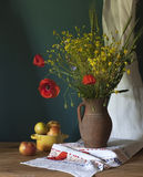 Still life with poppy Stock Images