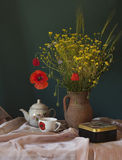 Still life with poppy Stock Photo