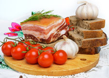 Still life of pork bacon Stock Photography