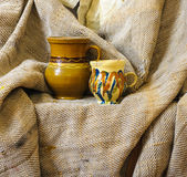 Still life pottery objects Royalty Free Stock Image