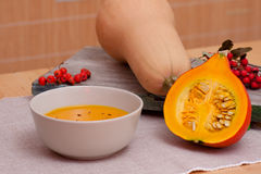 Still Life with Pumpkin  Soup Royalty Free Stock Photos