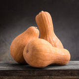 Still life of pumpkins. On a wooden board Stock Photography