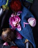 Still life with purple vegetables Royalty Free Stock Images