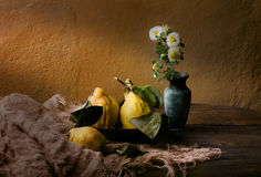 Still life with quinces Royalty Free Stock Photography