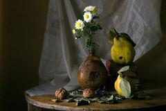 Still life with quinces Stock Image