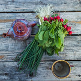 Still life: radishes on the table Royalty Free Stock Photo