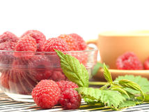 Still life with raspberries Royalty Free Stock Photo