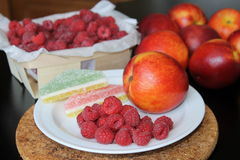 Still life. Raspberries. royalty free stock images