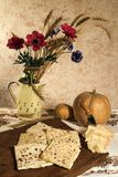 Still life with ravioli and cheese Royalty Free Stock Image