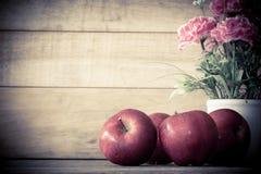 Still life red apples Stock Photos