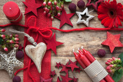 Still life in red for christmas time Stock Image