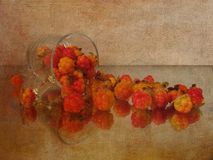 Still life with red currants on the old background Royalty Free Stock Images