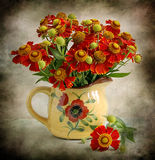 still life with red flowers royalty free stock photos