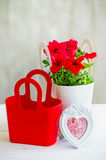 Still life with red petunia Royalty Free Stock Photography