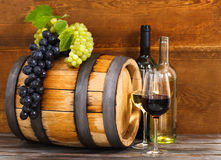 Still life with red and white wine Royalty Free Stock Images