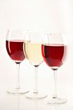 Still life with red and white wines Stock Images