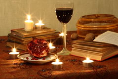 Still life with red wine Stock Photography