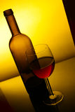 Still-life with red wine Stock Images