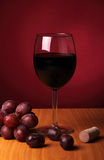 Still-life with red wine Stock Image