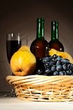 Still life with red wine and fruits Royalty Free Stock Photography