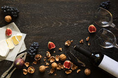Still life with red wine and fruits Royalty Free Stock Photo