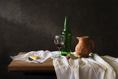 Still life  with  red wine Stock Photo