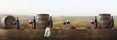 Still life with red wine Royalty Free Stock Photography