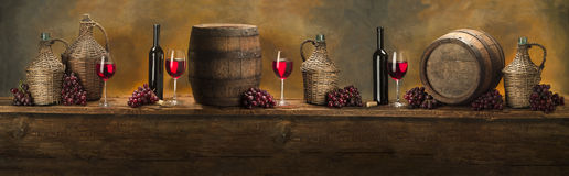 Still life with red wine Royalty Free Stock Photo