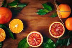 Still Life with Ripe Juicy Citrus Fruits Stock Image