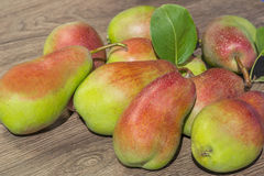 Still life of ripe juicy pears Stock Images