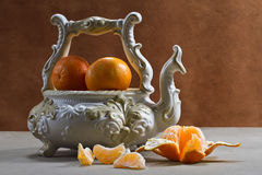 Still life with ripe tangerines Royalty Free Stock Photography