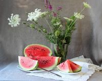 Still life with  ripe watermelon Stock Image