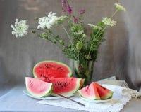Still life with  ripe watermelon Stock Image