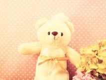 Still life romantic bear on wedding scene love concept Royalty Free Stock Image
