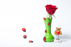 Still life with rose Stock Image