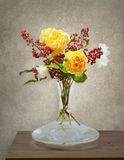 Still life with roses and berries Stock Photography