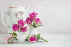Still life with roses Stock Photography