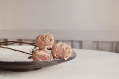 Still life roses Stock Photography