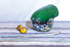 Still life rotten Winter Melon, lemon and lemon grass Stock Photography