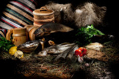 Still life In Rural Style Stock Images