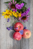 Still life rural on a wooden board Stock Image