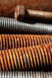 Still life of rusty screws Royalty Free Stock Photos