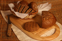 Still life with rye bread Royalty Free Stock Images