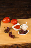 Salsa brava ingredients Royalty Free Stock Photos