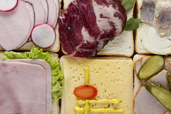Still life of sandwiches Stock Image