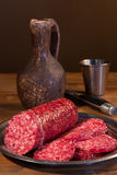 Still life with  sausage Royalty Free Stock Photography